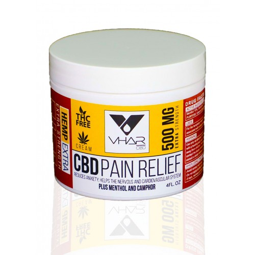 CBD Pain Relief Cream 500mg/4 OZ Jar